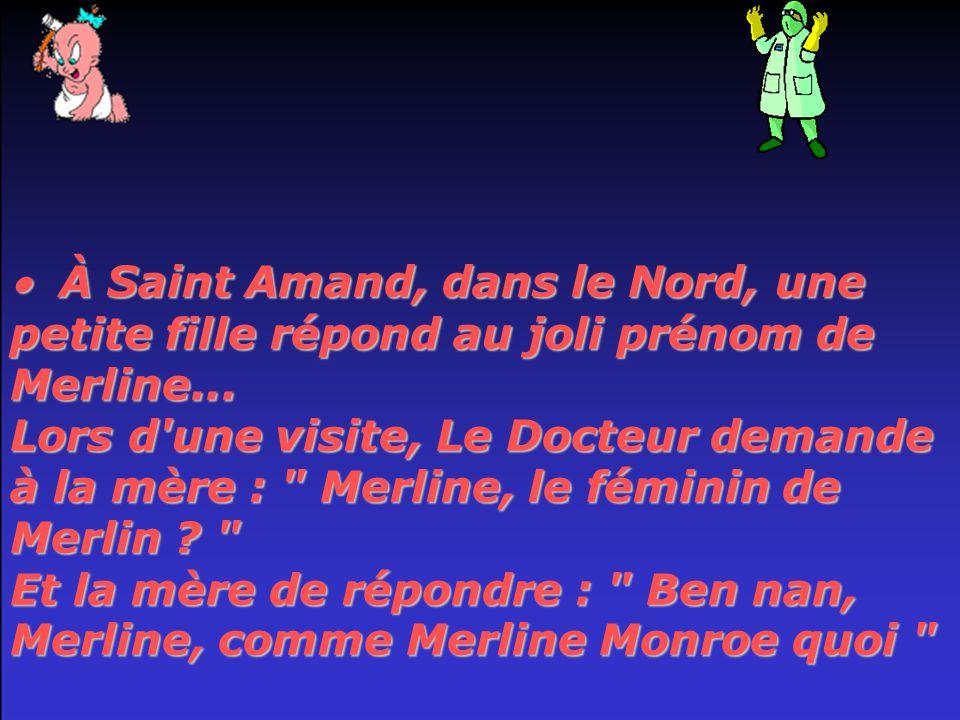  À Saint Amand, dans le Nord, une petite fille répond au joli prénom de Merline...