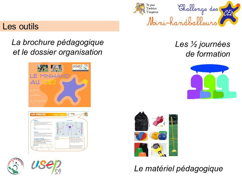 Les outils La brochure pédagogique et le dossier organisation Le matériel pédagogique Les ½ journées de formation