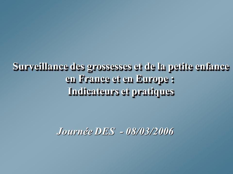 Surveillance des grossesses et de la petite enfance en France et en Europe : Indicateurs et pratiques Surveillance des grossesses et de la petite enfa