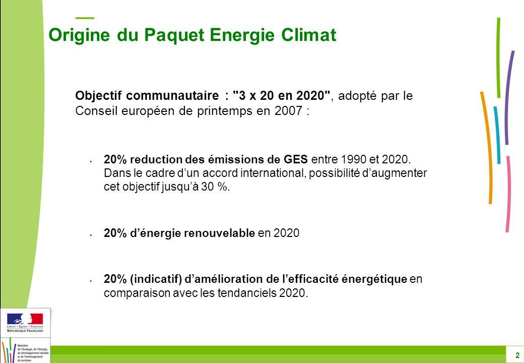 CO2 véhicules : principaux thèmes Date de mise en œuvre – 1/2 73 Proposition de la Commission : application à 100 % des ventes dès 2012 Disposition adoptée : mise en œuvre progressive entre 2012 et 2015 : 65 % des ventes doivent être conformes en 2012 75% en 2013 80% en 2014 100 % à partir de 2015