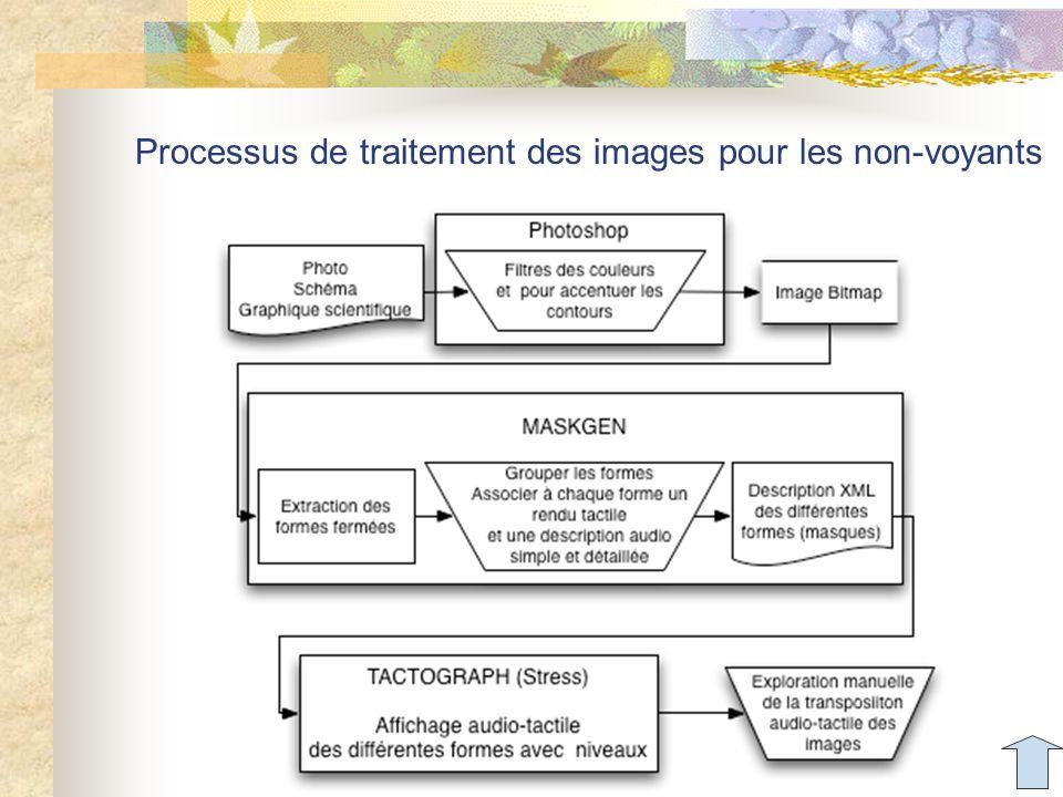 Processus de traitement des images pour les non-voyants Aude Dufresne