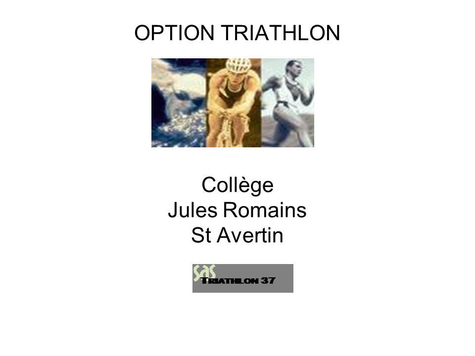 OPTION TRIATHLON Collège Jules Romains St Avertin