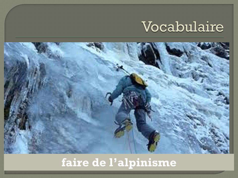 faire de l'alpinisme