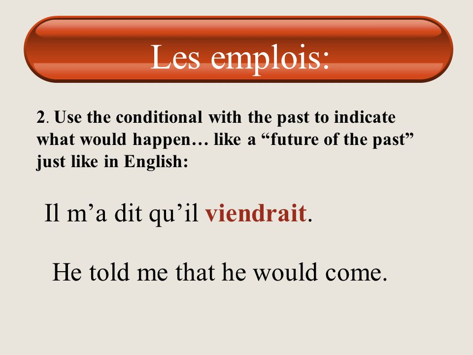 """1. Use the conditional tense just like in English """"expressions of politeness"""" Je voudrais un café Je voudrais une salade verte. Je voudrais une boutei"""