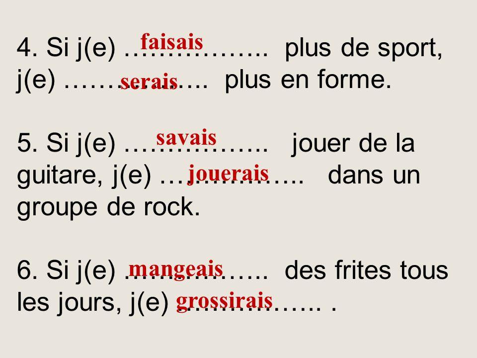 Complétez les phrases avec les verbes de la liste à l'imparfait ou au conditionnel. 1. Si j(e) …………….. plus, j(e)……………. de meilleures notes. 2. Si j(e