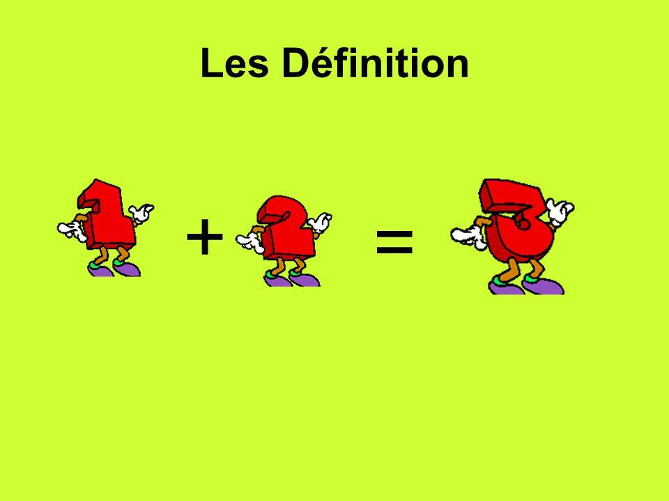 Les Définition + =