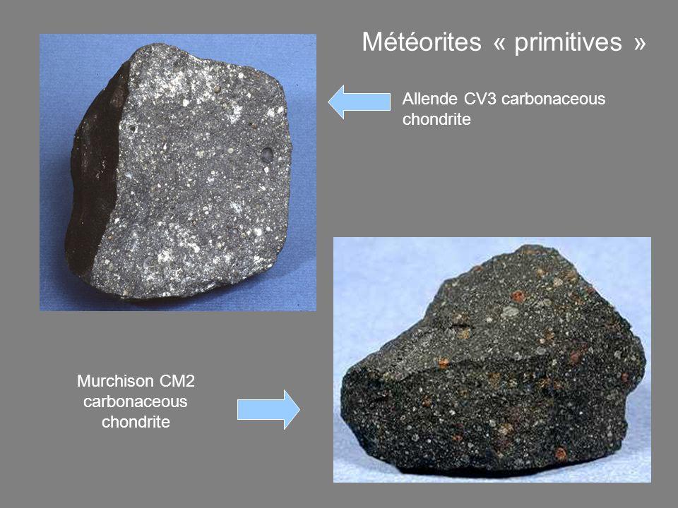Météorites « primitives » mais aussi plus évoluées