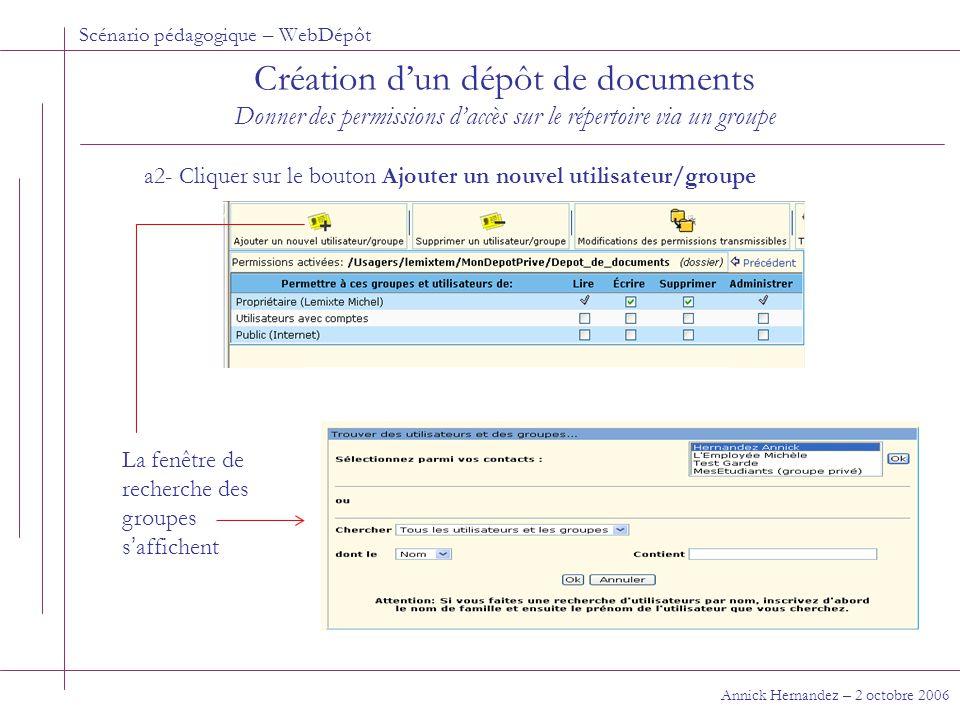 Scénario pédagogique – WebDépôt Où trouver de l'aide sur la fonctionnalité de WebDépôt.