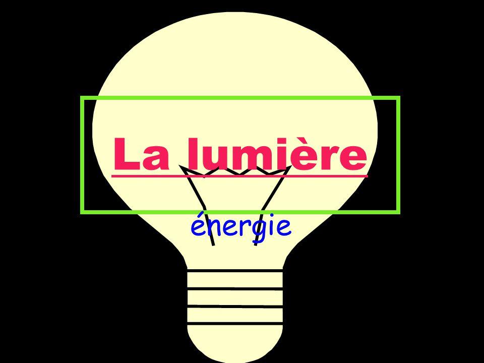 La lumière énergie