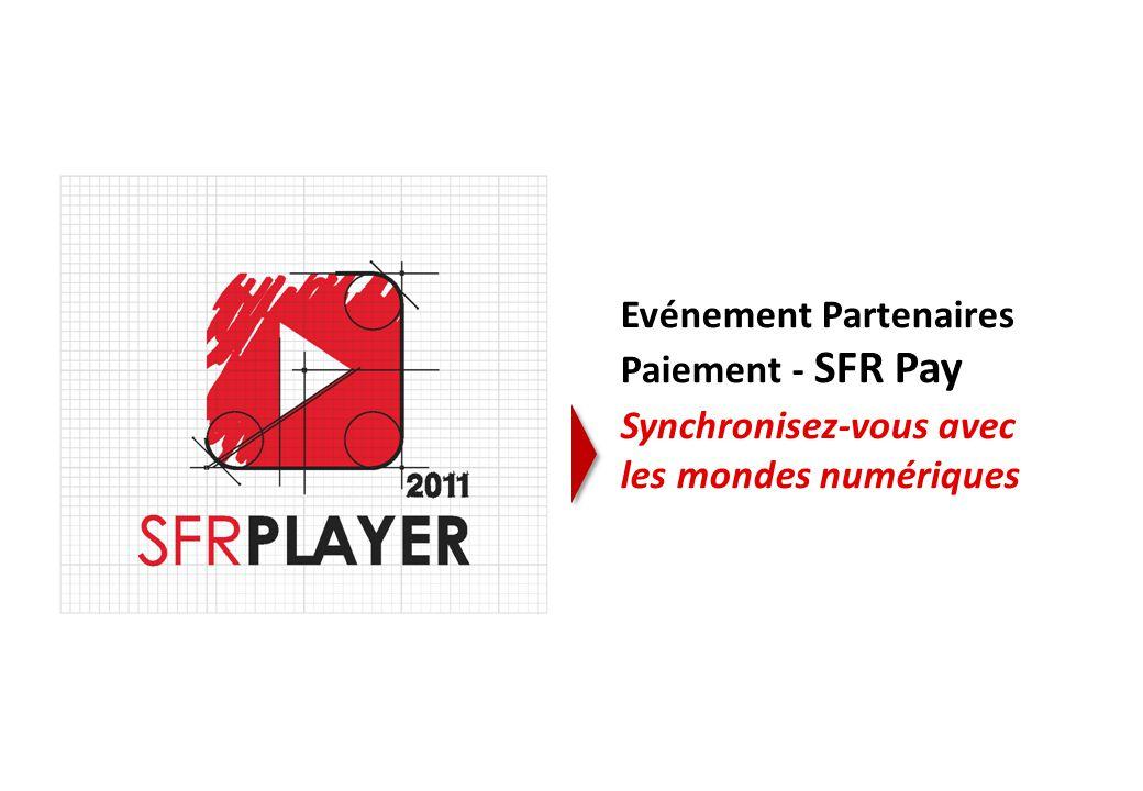1 Evénement Partenaires Paiement - SFR Pay Synchronisez-vous avec les mondes numériques