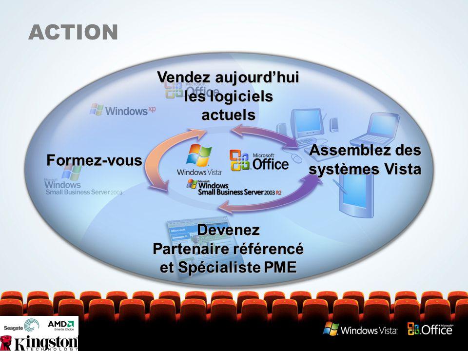 ACTION Vendez aujourd'hui les logiciels actuels Formez-vous Assemblez des systèmes Vista Devenez Partenaire référencé et Spécialiste PME