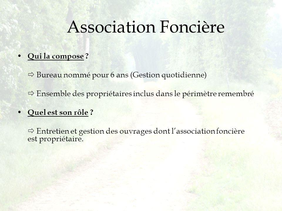 Association Foncière Qui la compose .
