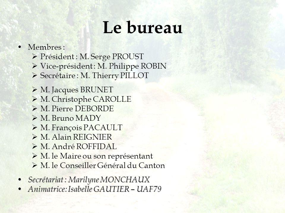 Membres :  Président : M.Serge PROUST  Vice-président : M.