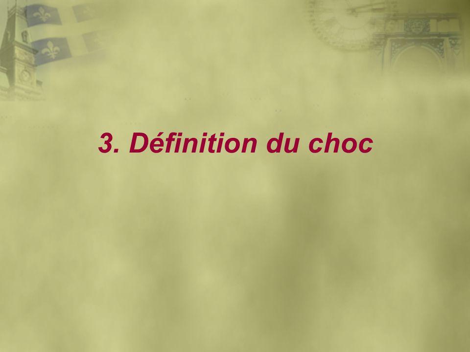 3. Définition du choc