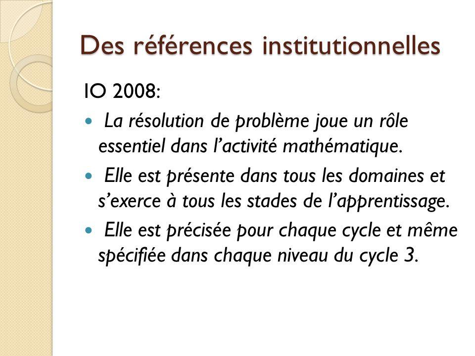 Pour chaque cycle Question Enoncé Représentation(s) Notion(s) Résolution Communication Outils