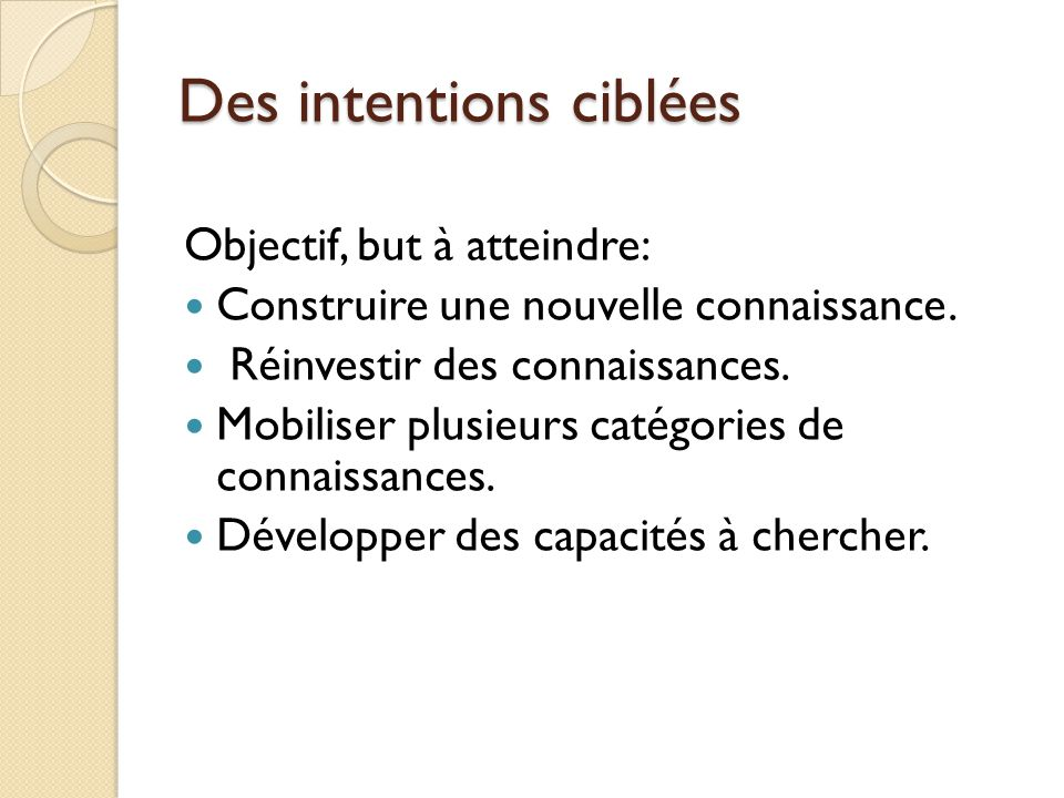 Des outils cycle 1