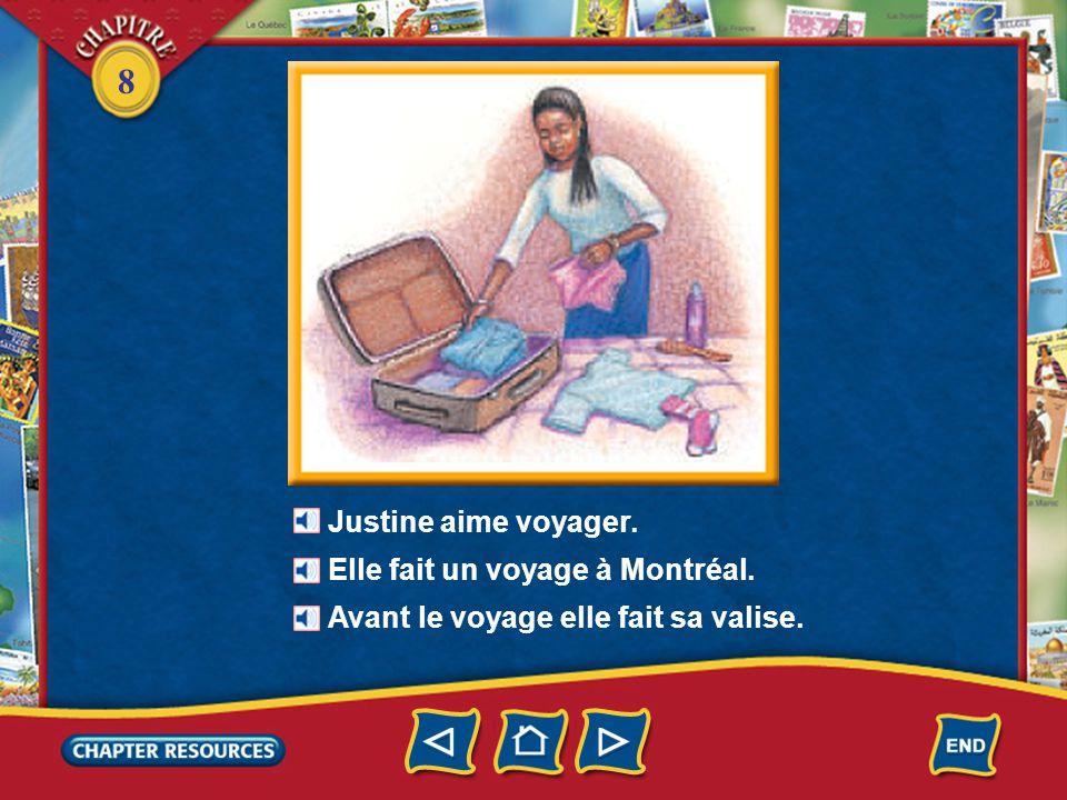 8 5.oú on met les vêtements pour voyager Réponse: dans une valise 6.