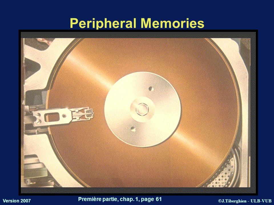 ©J.Tiberghien - ULB-VUB Version 2007 Première partie, chap. 1, page 61 Peripheral Memories 14