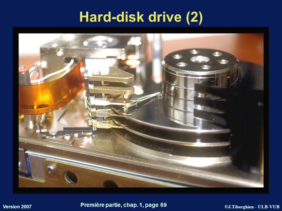 ©J.Tiberghien - ULB-VUB Version 2007 Première partie, chap. 1, page 69 Hard-disk drive (2) 17