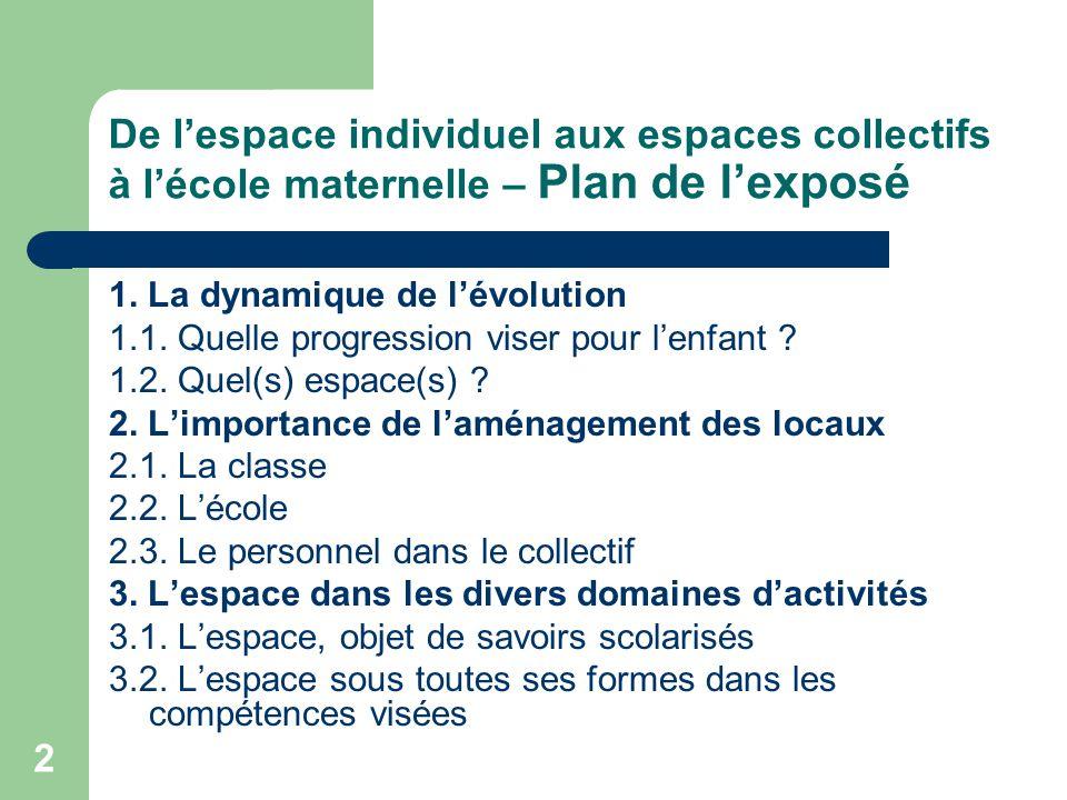 23 3.L'espace dans les divers domaines d'activités - suite 3.2.