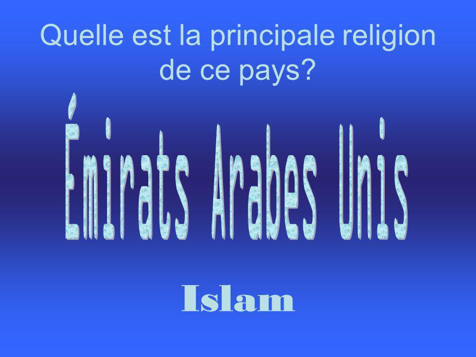 Quelle est la principale religion de ce pays? Islam