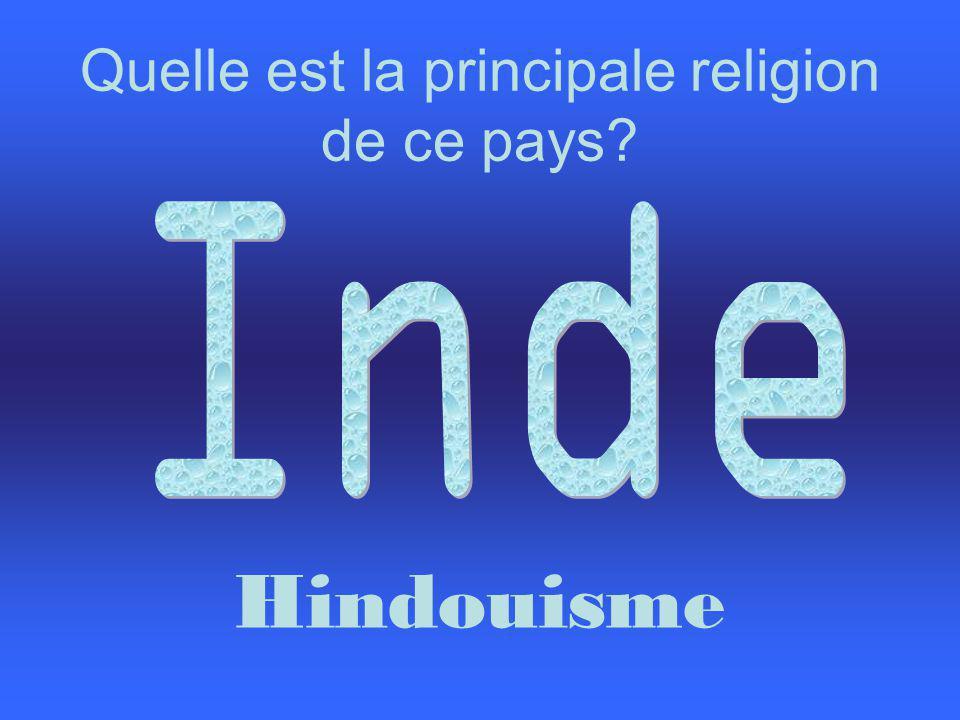Quelle est la principale religion de ce pays? Hindouisme