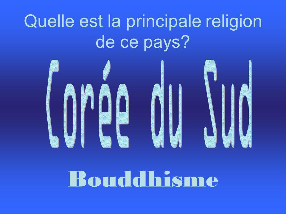 Quelle est la principale religion de ce pays? Bouddhisme