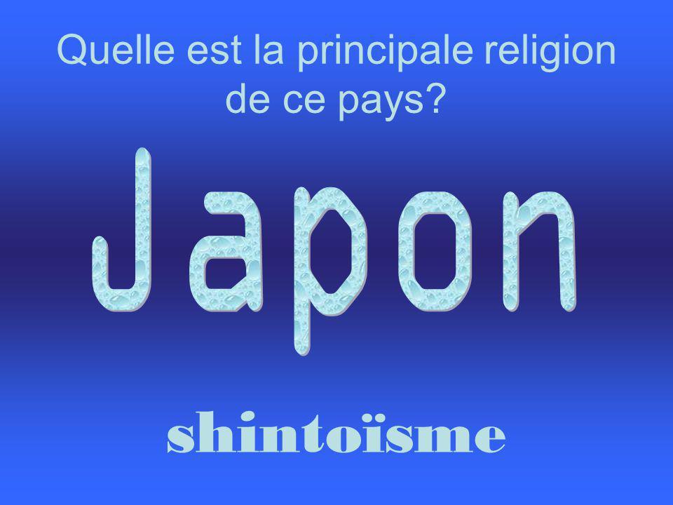 Quelle est la principale religion de ce pays? shintoïsme