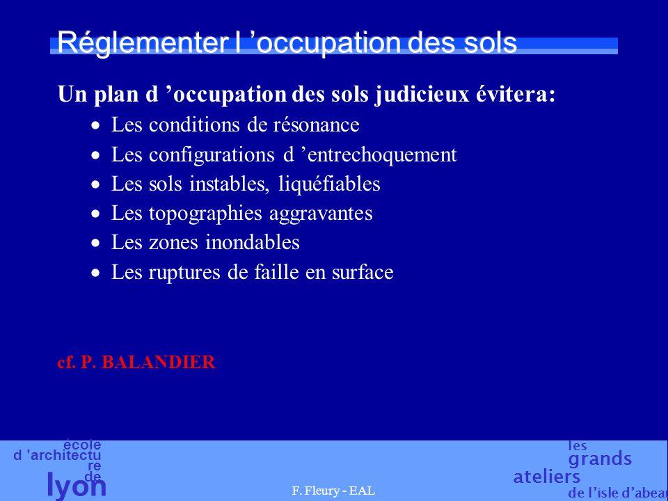 école d 'architectu re de l yon les grands ateliers de l'isle d'abeau F. Fleury - EAL Réglementer l 'occupation des sols Un plan d 'occupation des sol