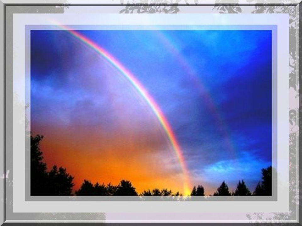 Toutes les gouttes de pluie réfractent et reflètent la lumière du soleil de la même manière mais, seulement la lumière d'une petite partie des gouttes