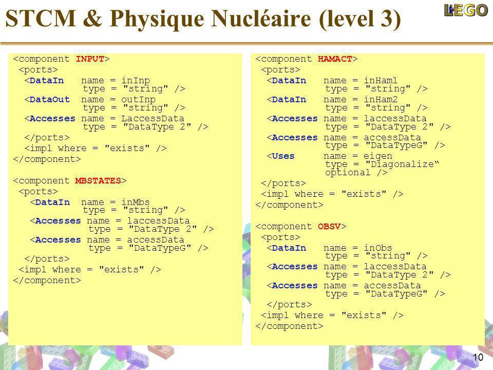 10 STCM & Physique Nucléaire (level 3)