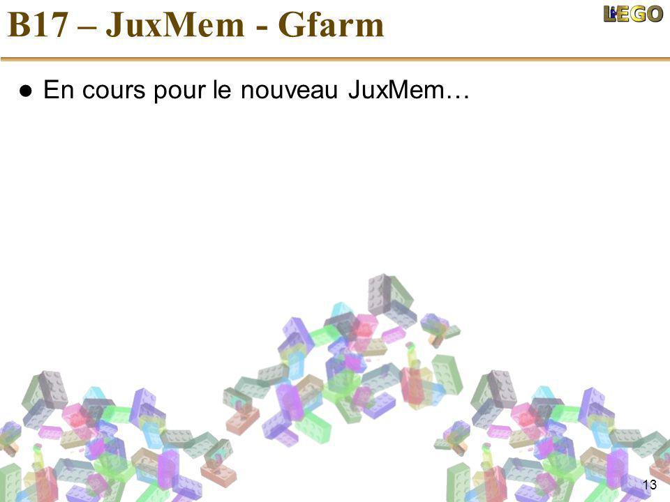 13 B17 – JuxMem - Gfarm En cours pour le nouveau JuxMem…