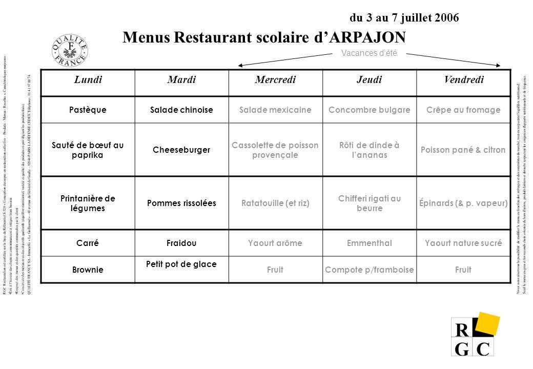 RGC Restauration est certifiée sur la base du Référentiel S-320 « Conception des repas en restauration collective – Produits – Menus - Recettes ». Car