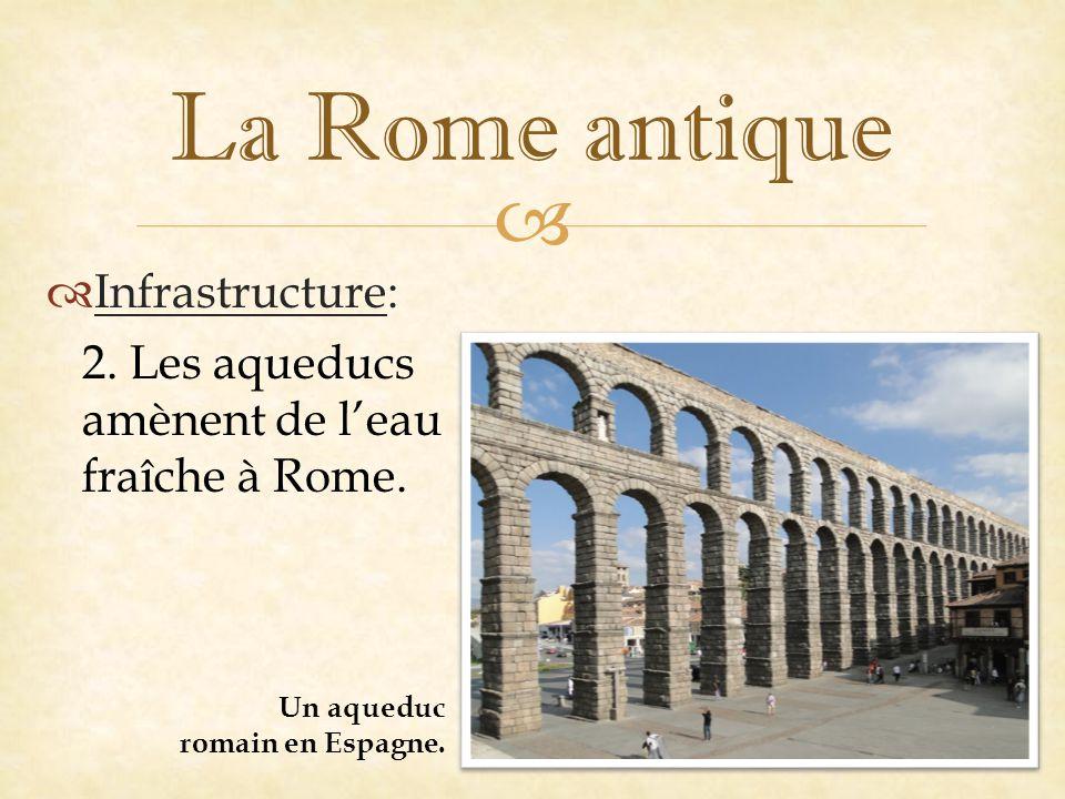   Infrastructure: La Rome antique 2.Les aqueducs amènent de l'eau fraîche à Rome.