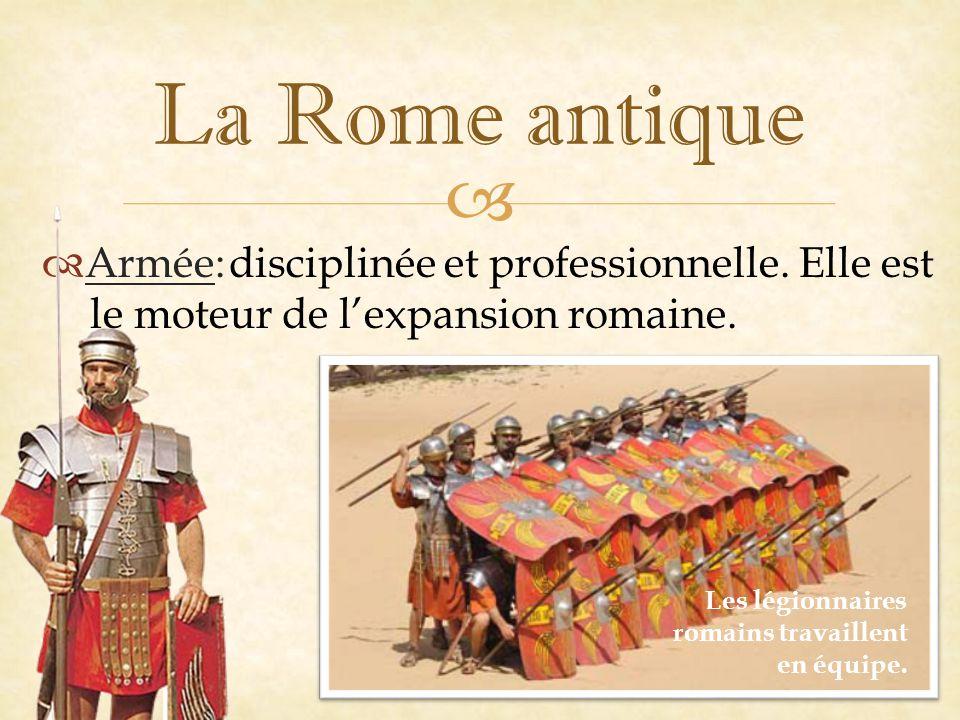   Armée: La Rome antique Les légionnaires romains travaillent en équipe.