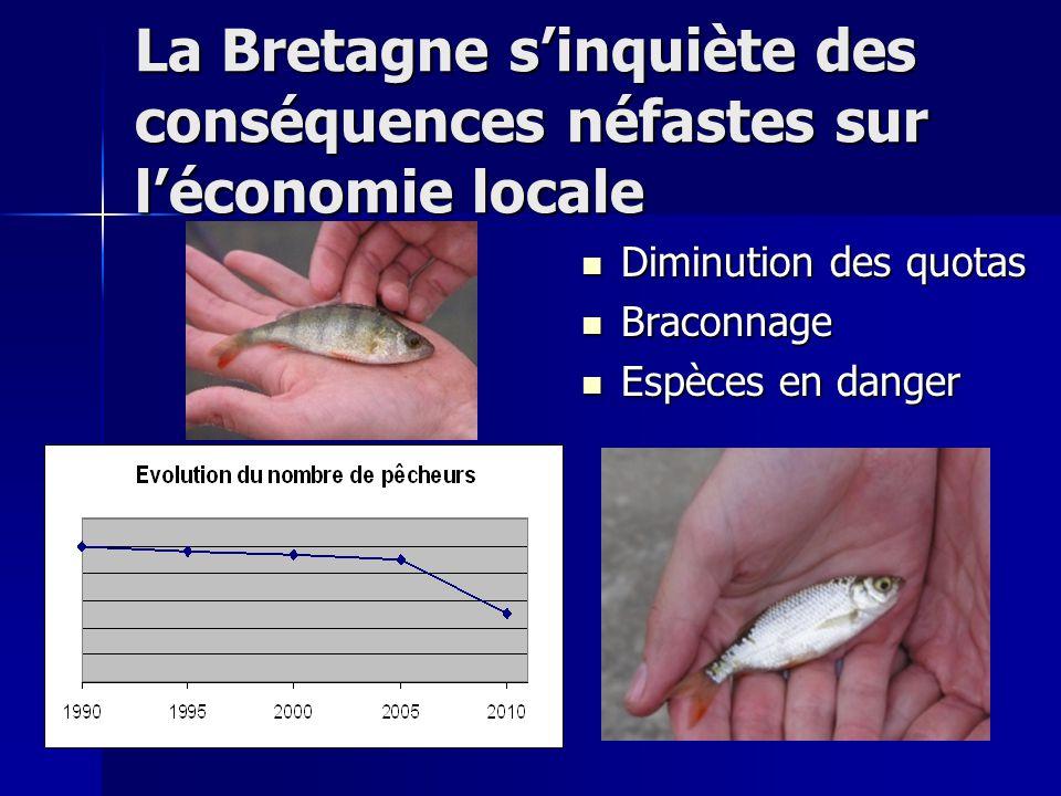 La Bretagne s'inquiète des conséquences néfastes sur l'économie locale Diminution des quotas Braconnage Espèces en danger