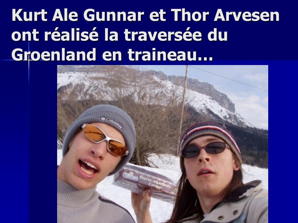 Kurt Ale Gunnar et Thor Arvesen ont réalisé la traversée du Groenland en traineau…