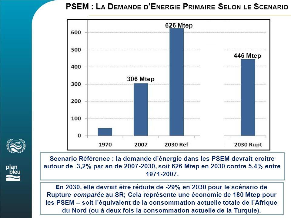 PSEM : L A D EMANDE D 'E NERGIE P RIMAIRE S ELON LE S CENARIO En 2030, elle devrait être réduite de -29% en 2030 pour le scénario de Rupture comparée