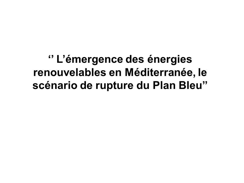 '' L'émergence des énergies renouvelables en Méditerranée, le scénario de rupture du Plan Bleu''