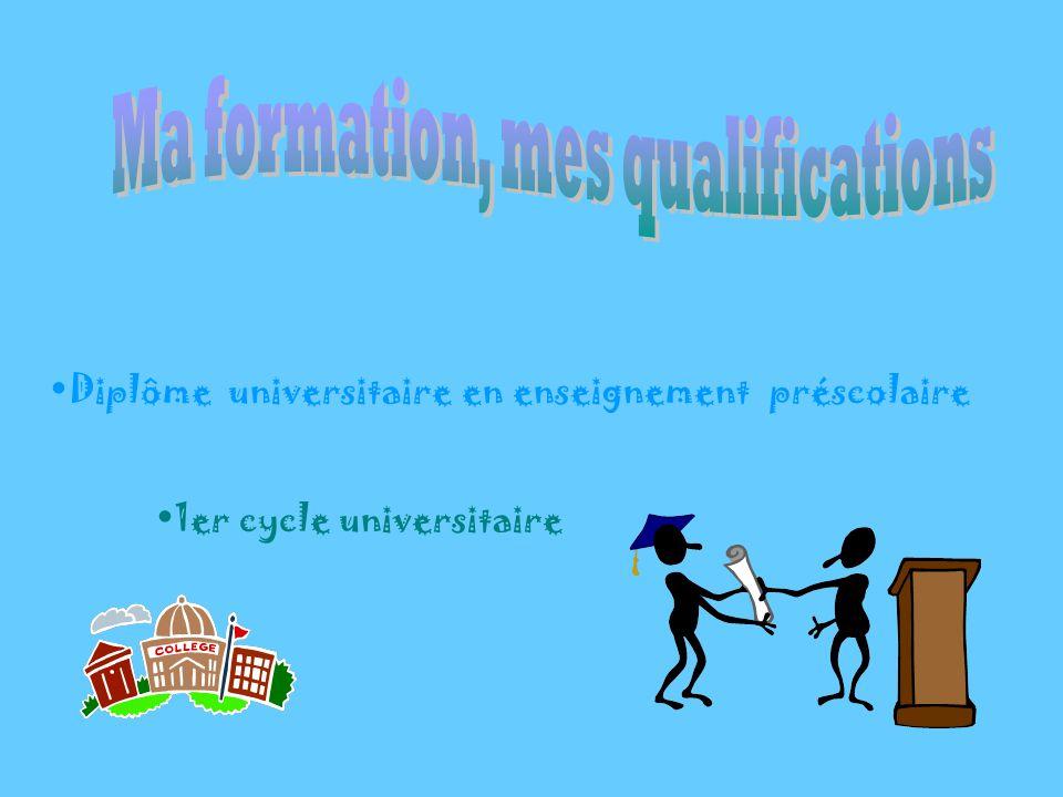 Diplôme universitaire en enseignement préscolaire 1er cycle universitaire