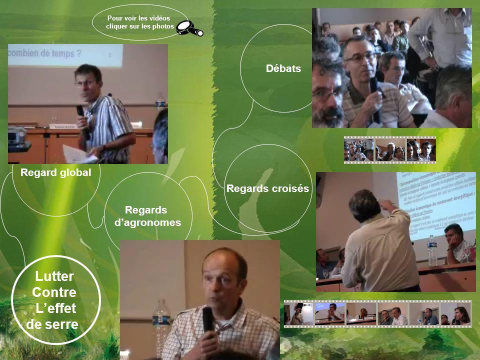 Regards d'agronomes Regards croisés Débats Regard global Lutter Contre L'effet de serre Pour voir les vidéos cliquer sur les photos