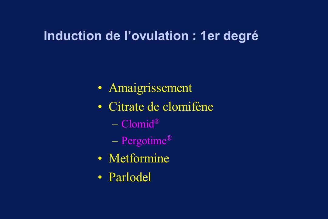 Induction de l'ovulation : 2e degré Gonadotrophines GnRH