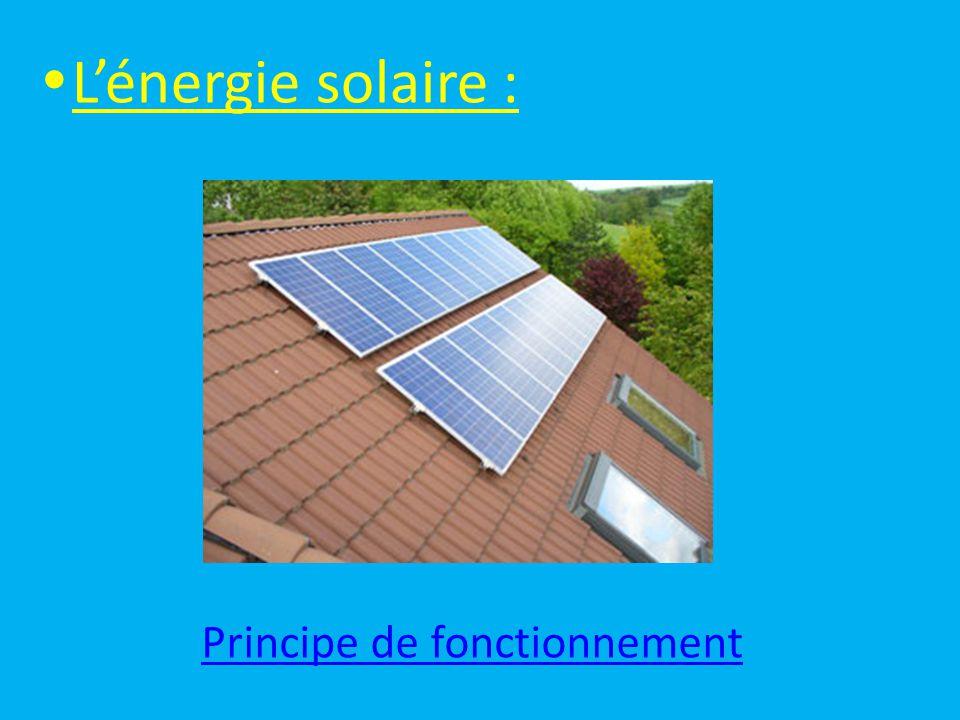  L'énergie solaire : Principe de fonctionnement