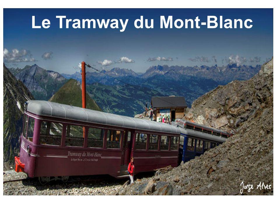 Treize kilomètres de voies du départ à 600 mètres jusqu à 2 392 mètres pendant 1h15 de trajet à 15 km/h, pour découvrir tous les étages alpins, les différents massifs, les deux grandes vallées de Montjoie et Chamonix, passant du milieu urbain, à la forêt, aux prairies alpines, à la haute montagne.