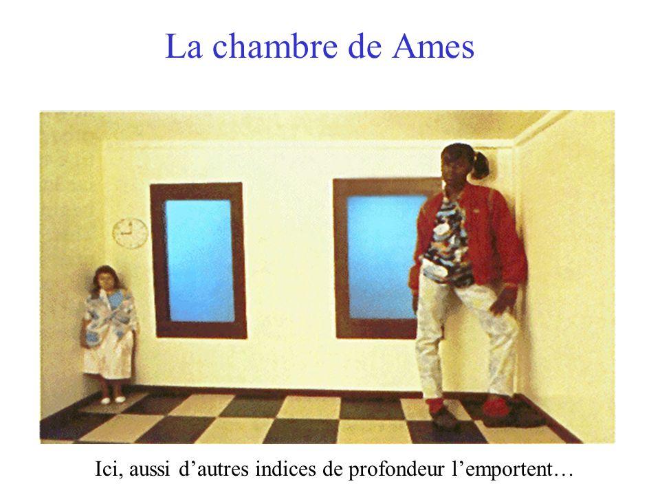 La chambre de Ames Ici, aussi d'autres indices de profondeur l'emportent…