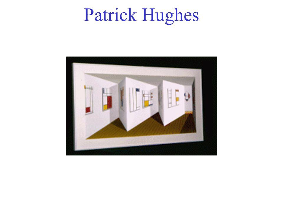 Patrick Hughes Perspective, ombres, etc. contre parallaxe.