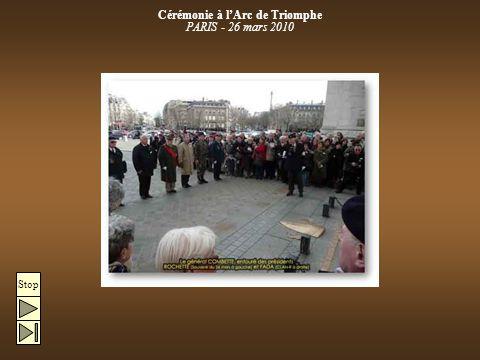 Stop Cérémonie à l'Arc de Triomphe PARIS - 26 mars 2010