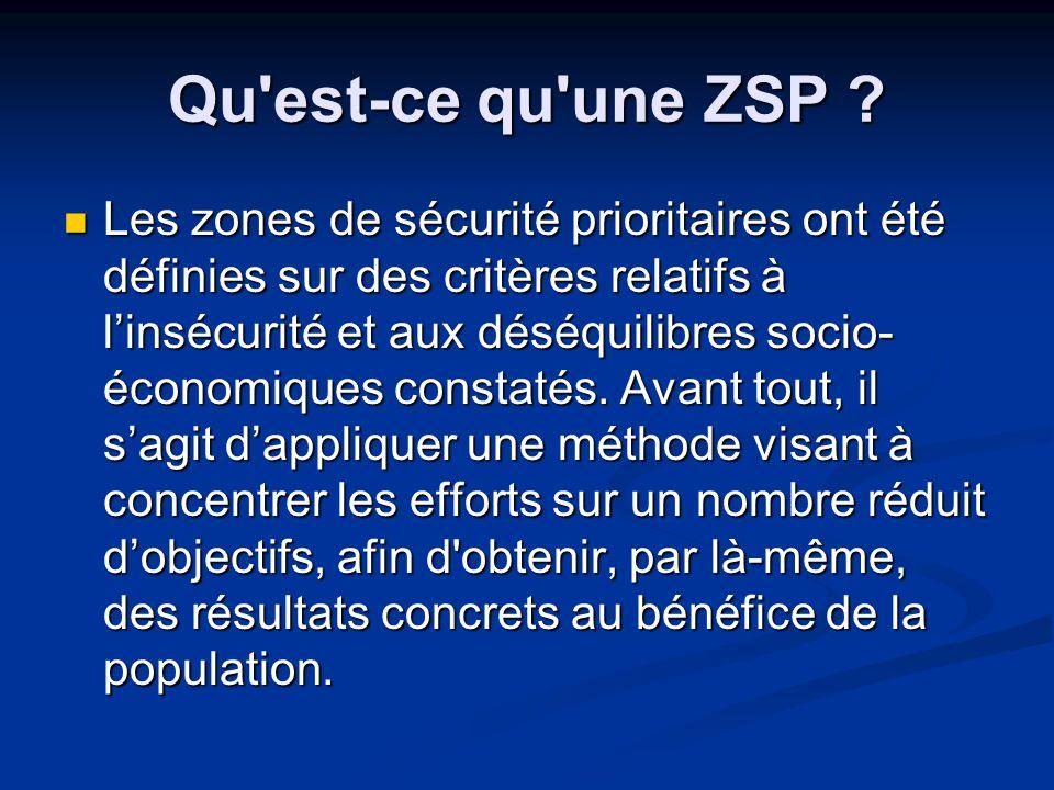 Qu est-ce qu une ZSP .