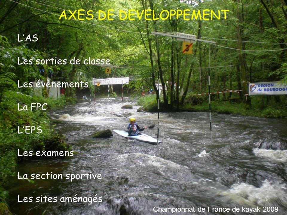 Un environnement naturel Des compétences et des envies Une équipe et un district Une programmation EPS La section sportive Championnat de France de ski de fond 2010