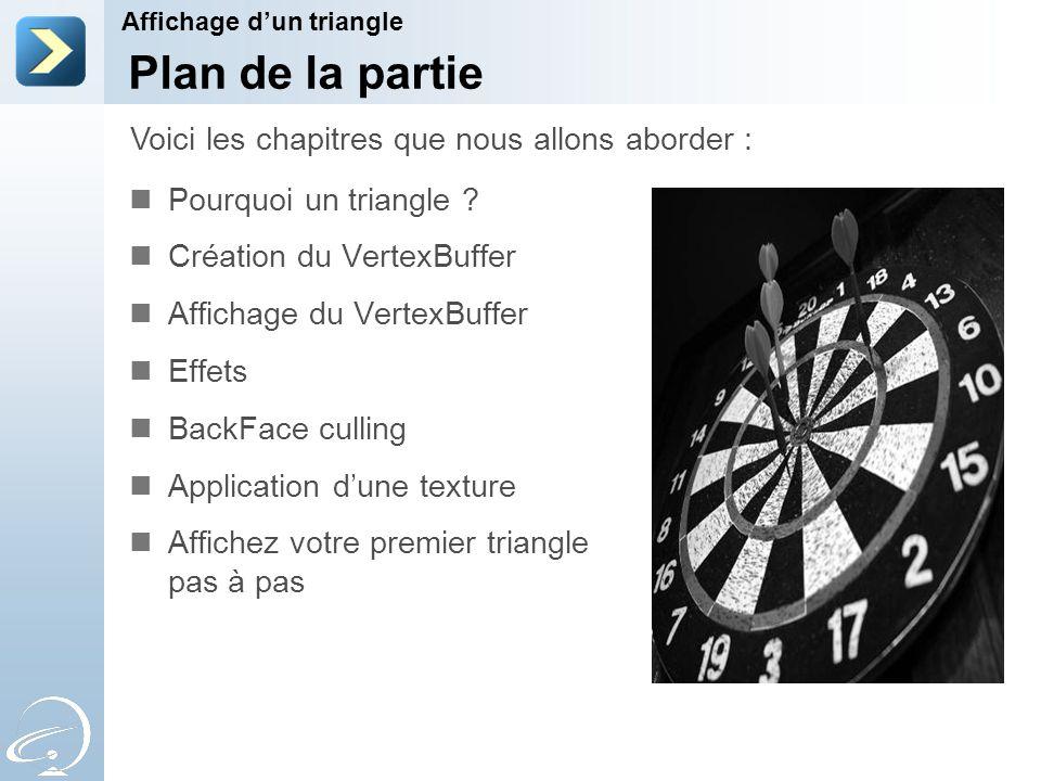 Plan de la partie Pourquoi un triangle .